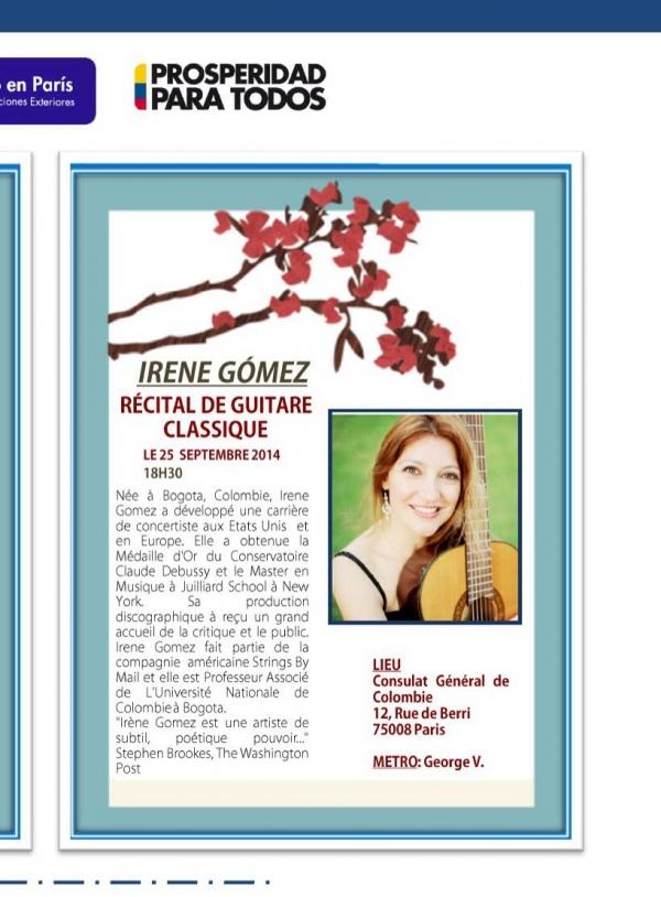 Irene Gómez plays in Paris Featured