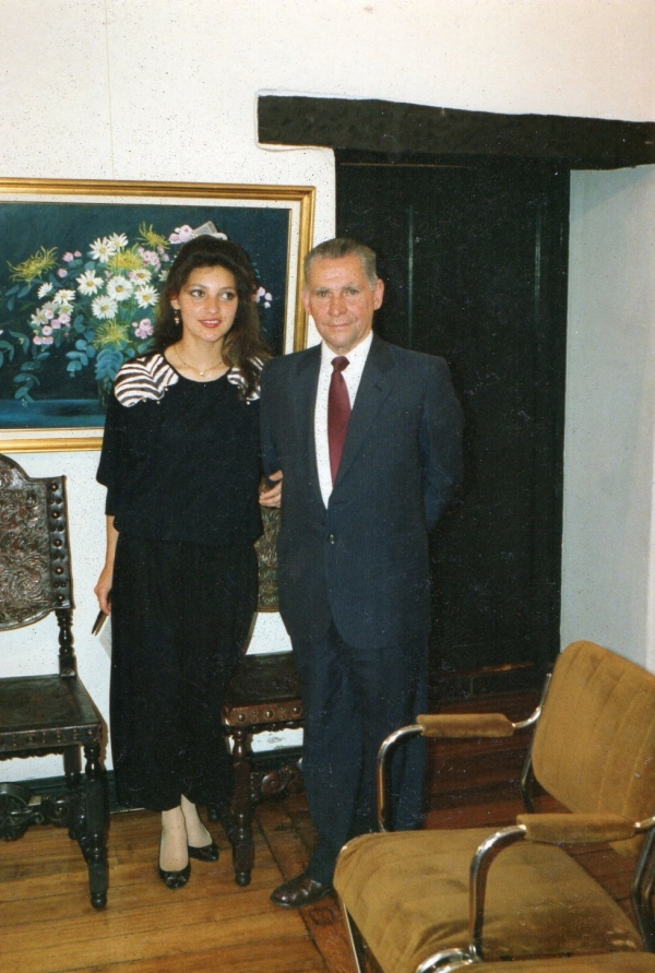 Irene Gomez with his father Vicente Gomez