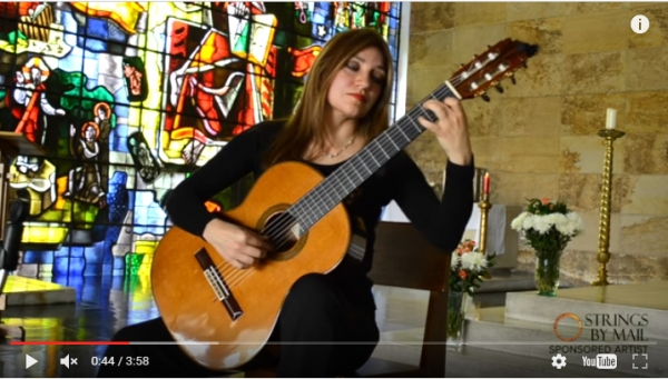 Watch my new Strings by Mail videos! Preludio BWV 997 – J.S. Bach performed by Irene Gomez   Strings By Mail Sponsored Artist