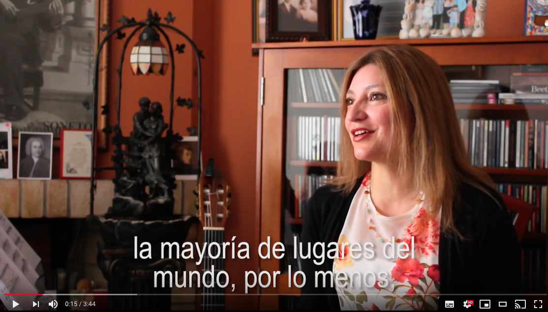 Irene Gomez is invited to a speech to new students of the National University