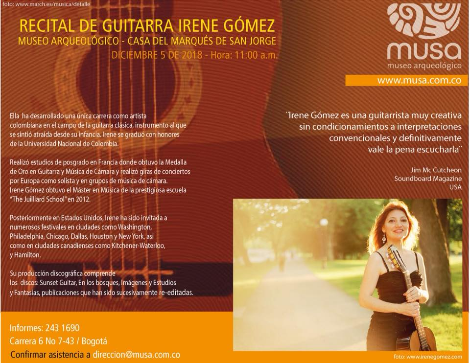 Irene Gomez Performed at MUSA